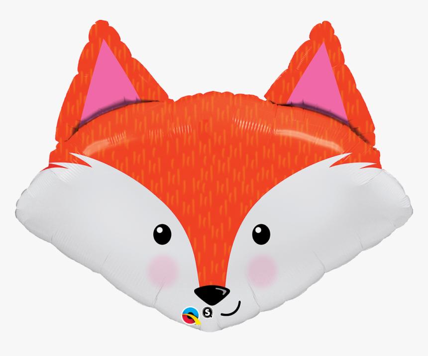 Fox Head Super Shape Foil Balloon - Foxy Birthday, HD Png Download, Free Download