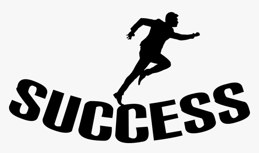 Silhouette Success Businessman Isolated Running Running Hd Png Download Kindpng