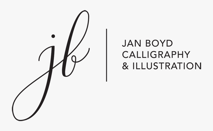 Jan Boyd Calligraphy & Illustration Logo - Logo Calligraphy, HD Png Download, Free Download