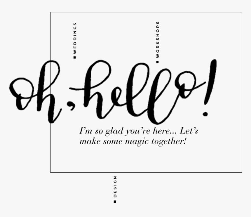 Ohhello - Calligraphy, HD Png Download, Free Download