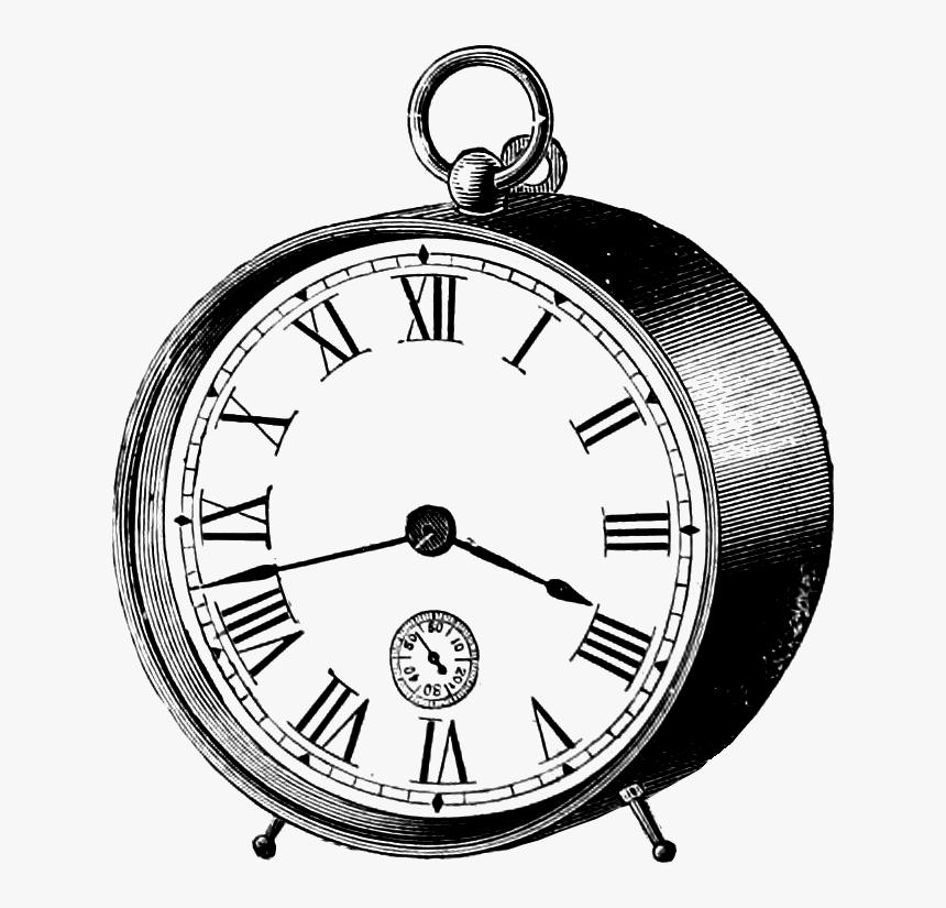 Download Black Vintage Clock Png Clip Art - Vintage Clock Clipart Transparent, Png Download, Free Download