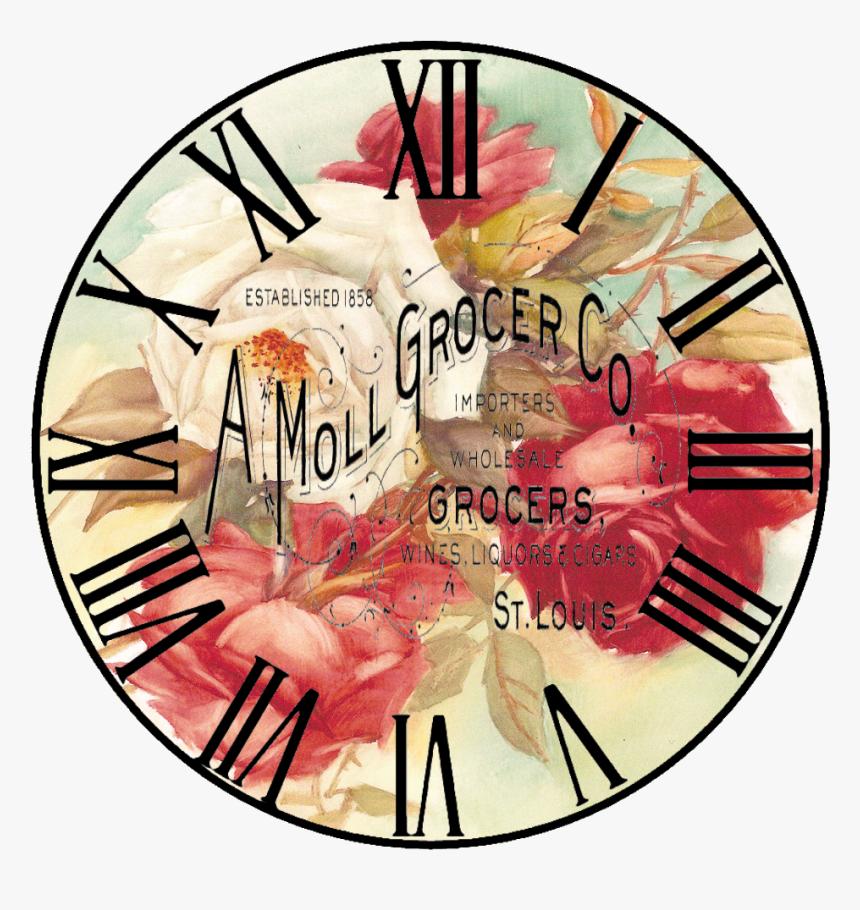 Free Vintage Clock Clipart Png Download Printable Vintage Clock Face Transparent Png Kindpng