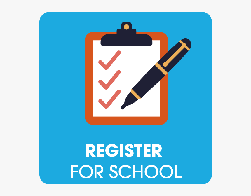 Clipboard With Register For School Icon - School Registration Icon, HD Png  Download - kindpng