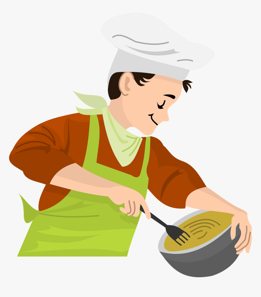 Cooking Png Chef Making Food Cartoon Transparent Png Kindpng