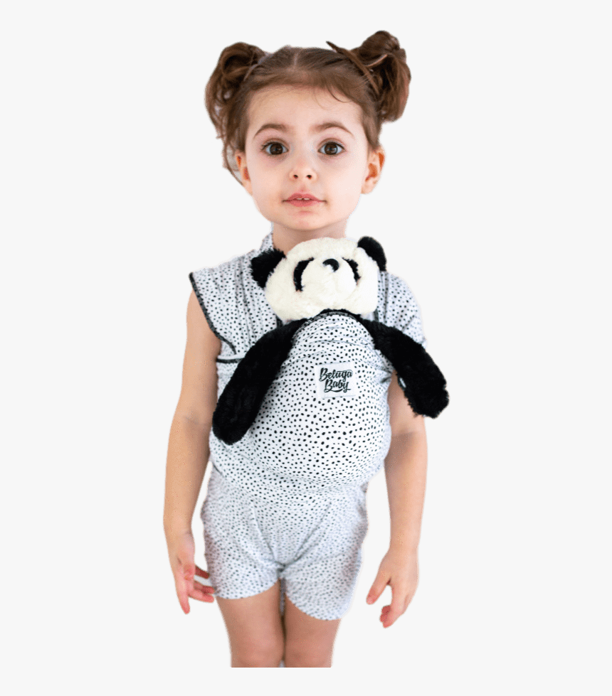 """Children""""s Doll Carrier Black & White Dots - Girl, HD Png Download, Free Download"""