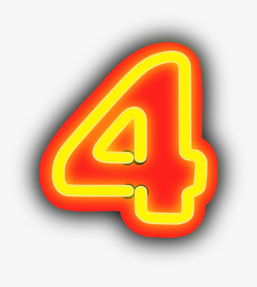 Number 4 Png Neon, Transparent Png, Free Download