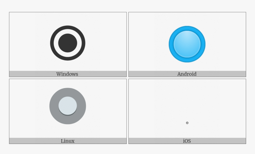 Radio Button On Various Operating Systems - Circle, HD Png Download, Free Download