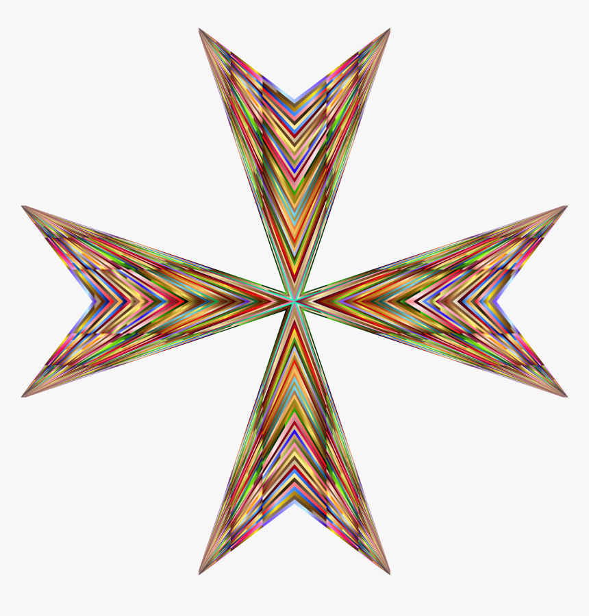 Star,maltese Cross,cross - Lazarus Orden, HD Png Download, Free Download