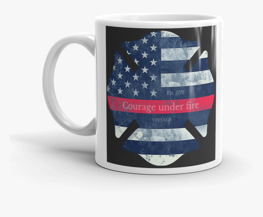 Maltese Cross Firefighter Symbol Printed On White Coffee - Beer Stein, HD Png Download, Free Download