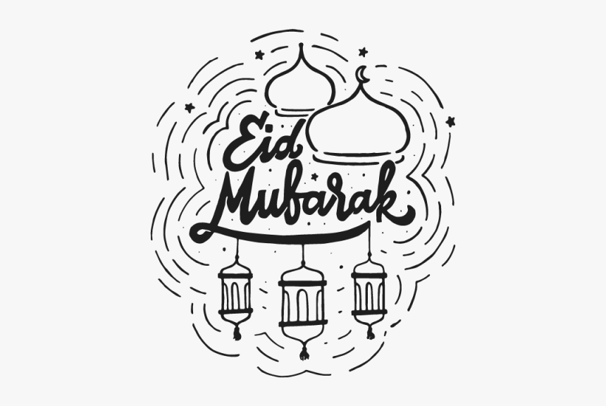 Islam Drawing Eid Mubarak Eid Mubarak Doodle Hd Png Download Kindpng