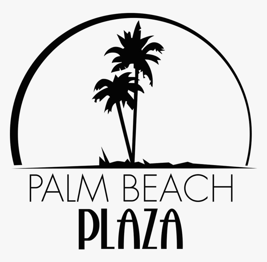 Palm Beach Plaza Palm Tree Beach Clipart Black And White Hd Png Download Kindpng