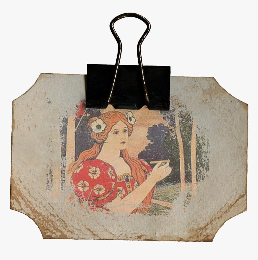 Vintage, Woman, Label, Scrapbook, Element, Framed - Vintage Scrapbook Elements Png, Transparent Png, Free Download