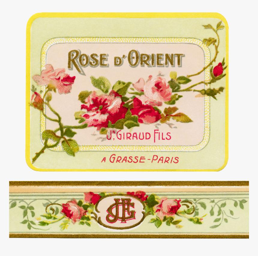 Transparent Vintage Label Png - Perfume Png Label, Png Download, Free Download