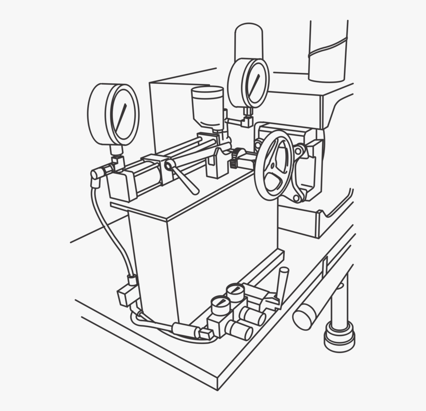 Line Art,angle,machine - Machine Drawing Clipart, HD Png Download, Free Download