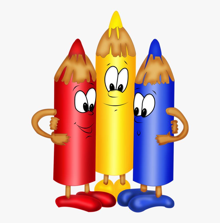 Colour Pencil Clip Art - Cartoon Color Pencil Clip Art, HD Png Download -  Kindpng