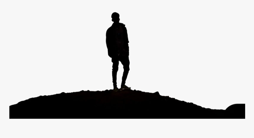 Transparent Man Sitting Silhouette Png - Man Standing Looking Silhouette, Png Download, Free Download