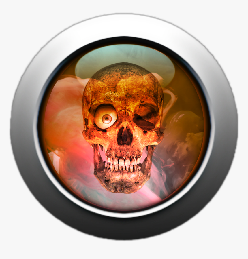 #skull #button #glass #round 3d - Skull, HD Png Download, Free Download