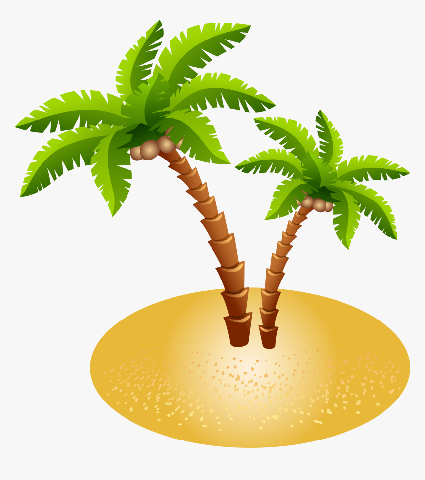 And Island Sand Transparent Palms Free Transparent - Palm Tree Clipart Transparent Background, HD Png Download, Free Download