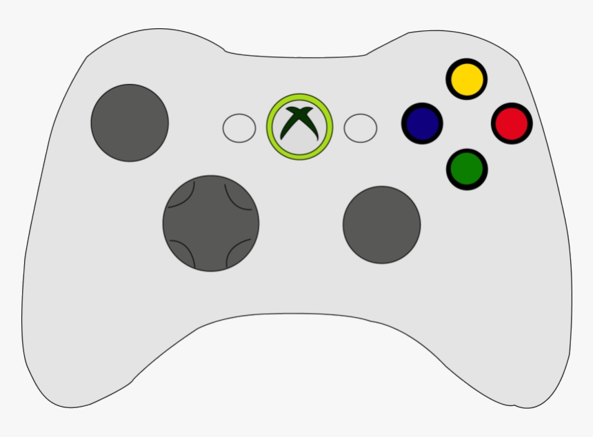Xbox Controller Clipart Remote Drawing Easy Hd Transparent Easy