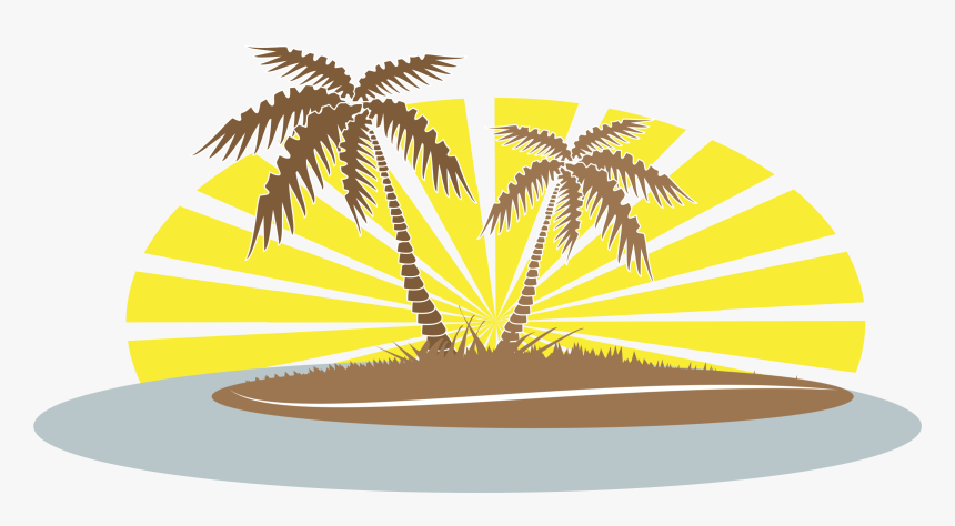 Clipart Summer Palm Tree - Beach Palm Tree Clip Art, HD Png Download, Free Download