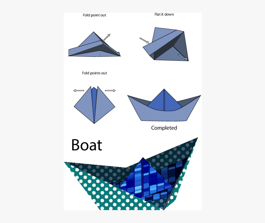 Easy Origami Boat, HD Png Download, Free Download