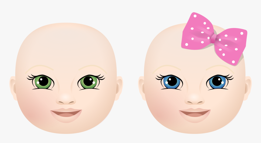 Clipart Library Library Baby Face Clipart - Cartoon, HD Png Download, Free Download