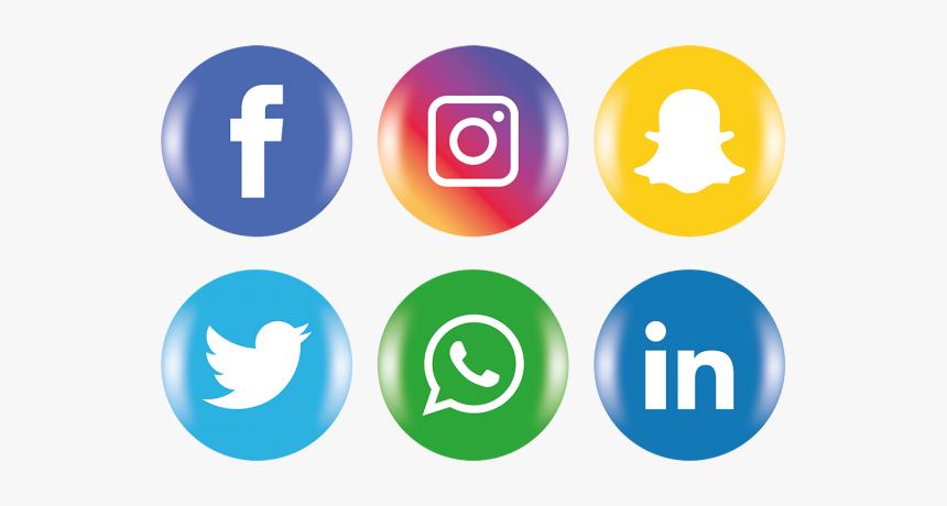 Clip Art Icones Redes Sociais Clipart - Facebook Instagram Logo Png, Transparent Png, Free Download