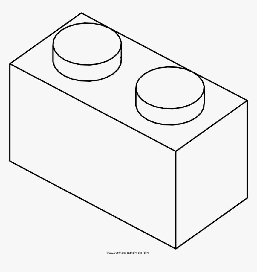 Lego Brick Coloring Page - Line Art, HD Png Download, Free Download