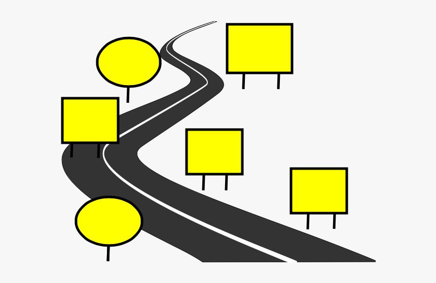 Blank Road Sign Png Road Map Blank Transparent Png Kindpng
