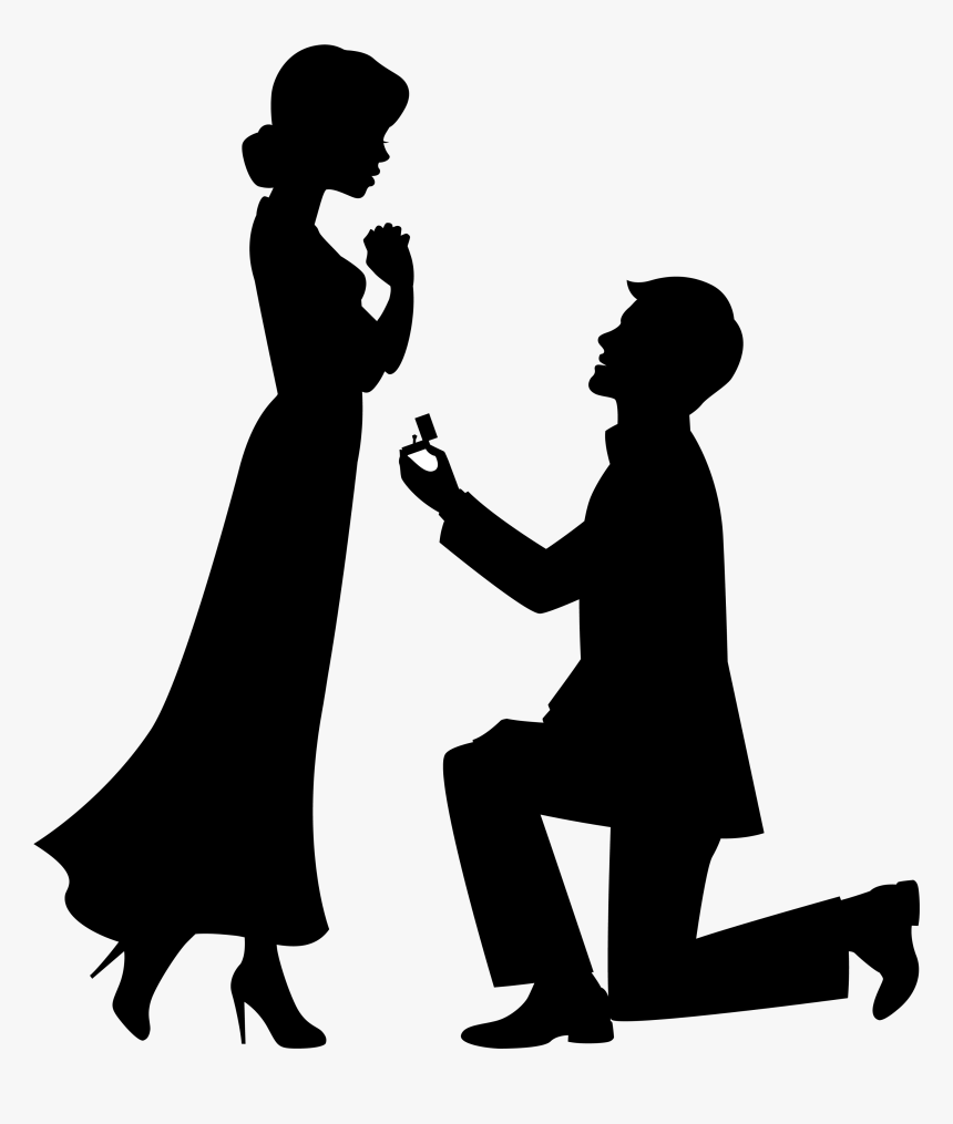 Marriage Proposal Drawing Engagement Clip Art - Engagement Clipart, HD Png Download, Free Download
