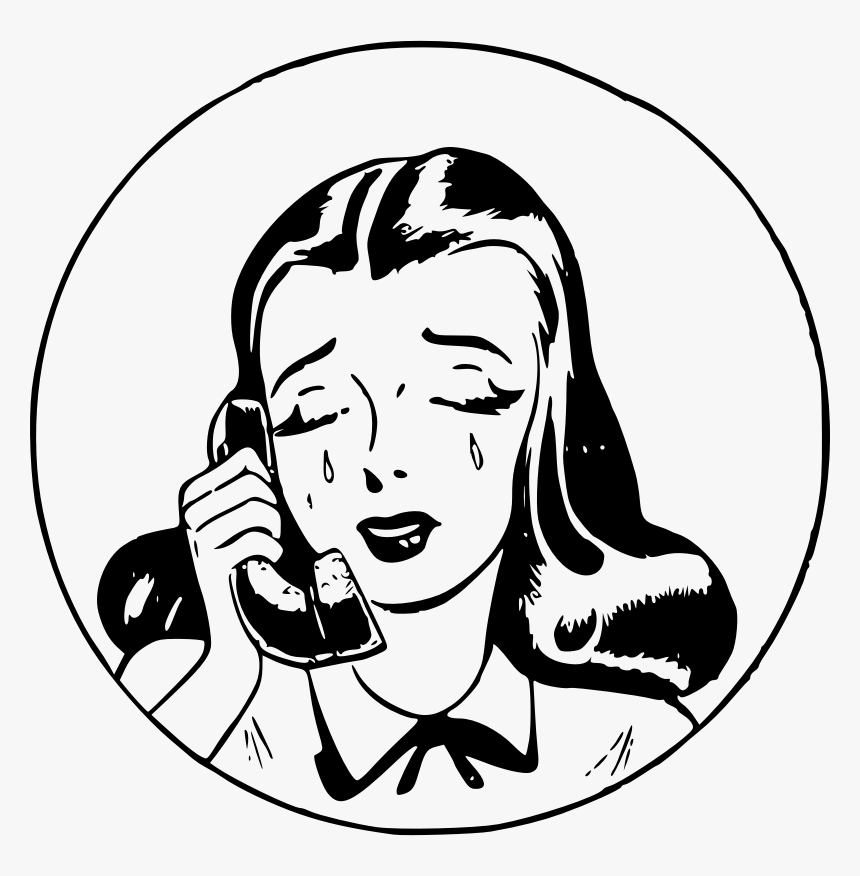 Sad Girl On Phone - Another Meeting That Could Have Been An Email, HD Png Download, Free Download