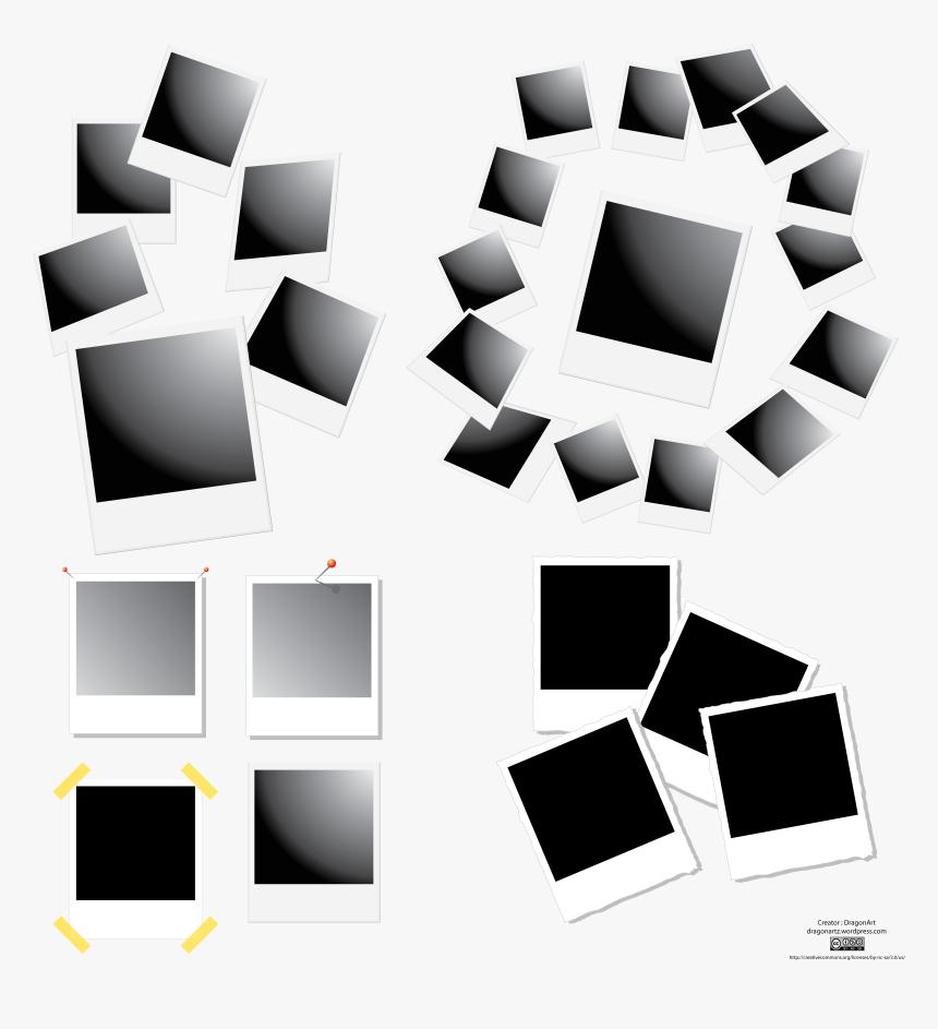 Polaroid Frames Vector Set Free Vector , Png Download - Polaroid Vector, Transparent Png, Free Download