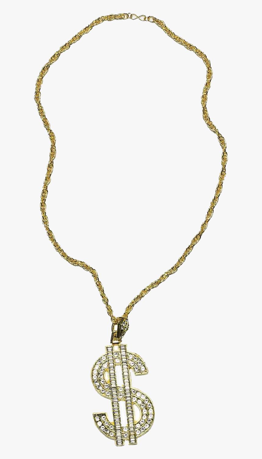 Thug Life Cadena De Oro Con Signo De Dólar - Gold Chains Png Hd, Transparent Png, Free Download