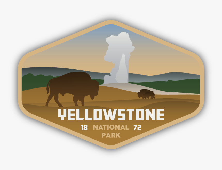 Yellowstone National Park Sticker - Yellowstone Sticker For Hydro Flask, HD Png Download, Free Download