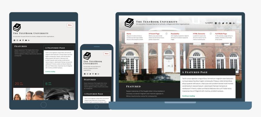 Wordpress Theme Textbook, HD Png Download, Free Download