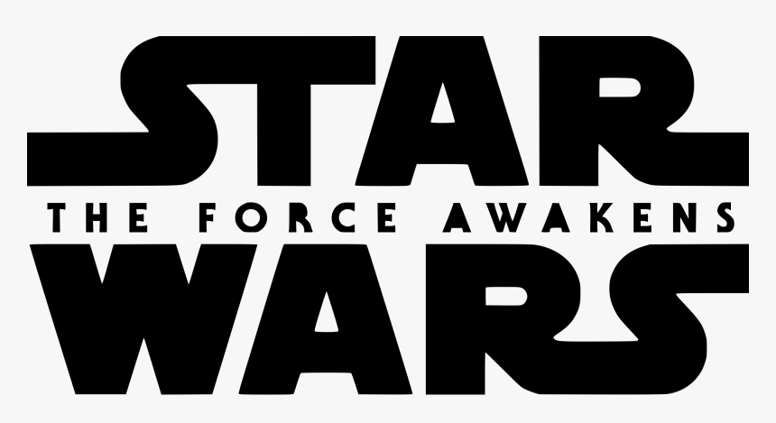 Star Wars The Force Awakens Logo - Star Wars The Force Awakens Logo Transparent, HD Png Download, Free Download