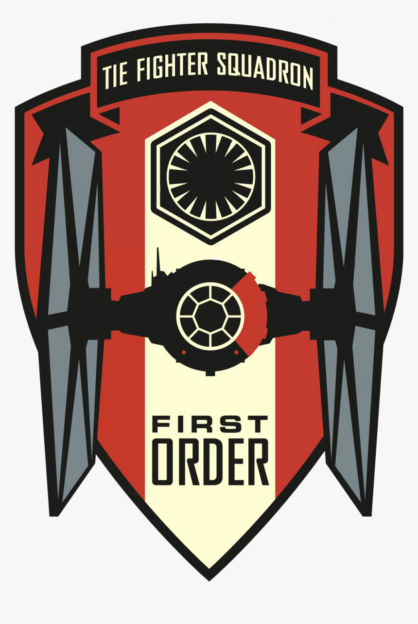 Star Wars The Force Awakens First Order And Resistance - Tie Fighter Squadron Logo, HD Png Download, Free Download