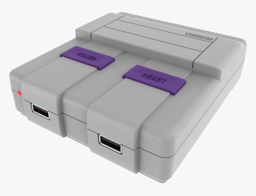 Rasptendo Retro Gaming Case For Raspberry Pi - Super Nintendo Entertainment System, HD Png Download, Free Download