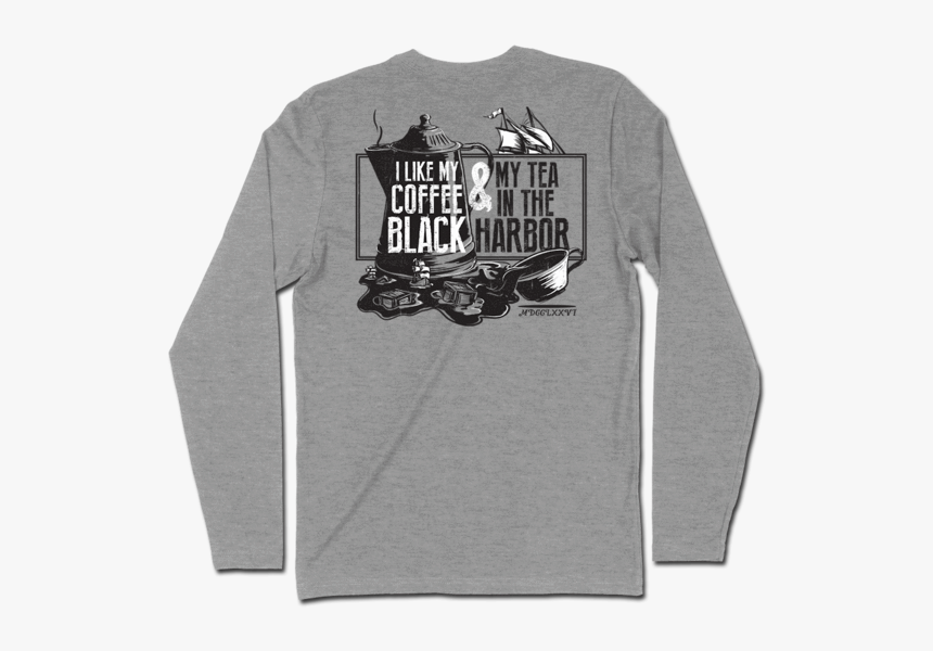 Tea In The Harbor Long Sleeve - Long-sleeved T-shirt, HD Png Download, Free Download