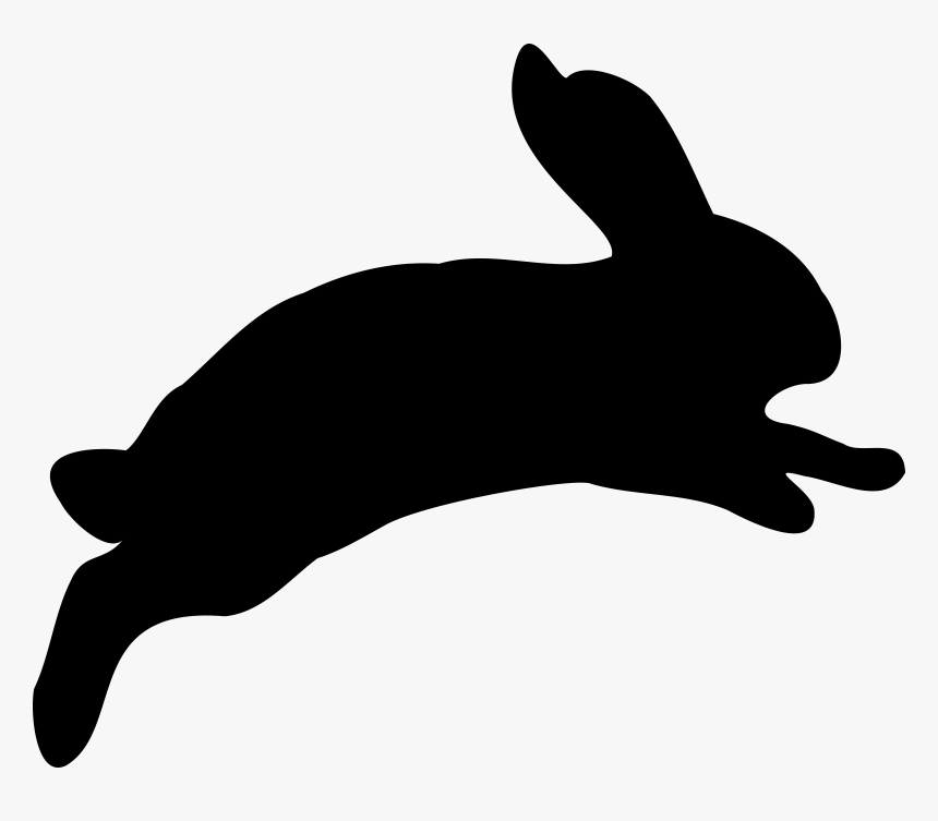 Rabbit Silhouette Png, Transparent Png, Free Download