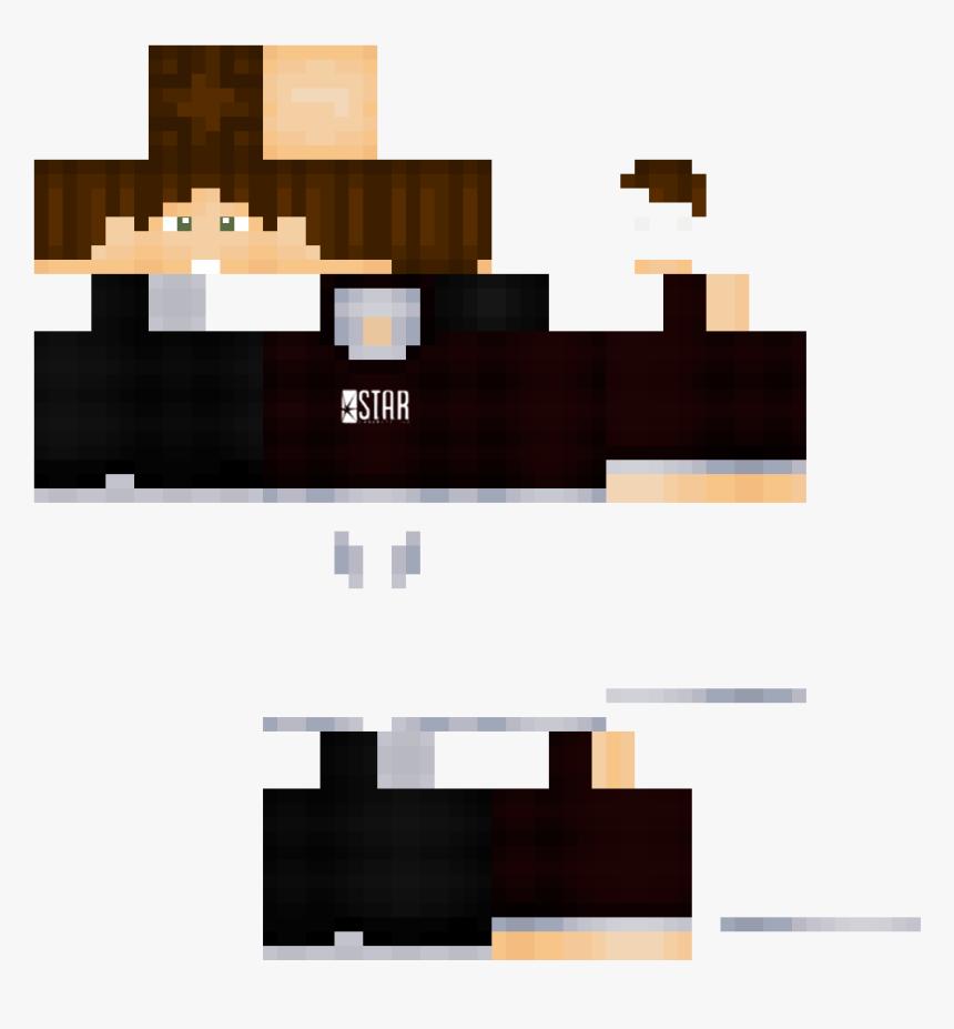 The Flash Minecraft Skins - Skin De Minecraft Pe, HD Png Download, Free Download