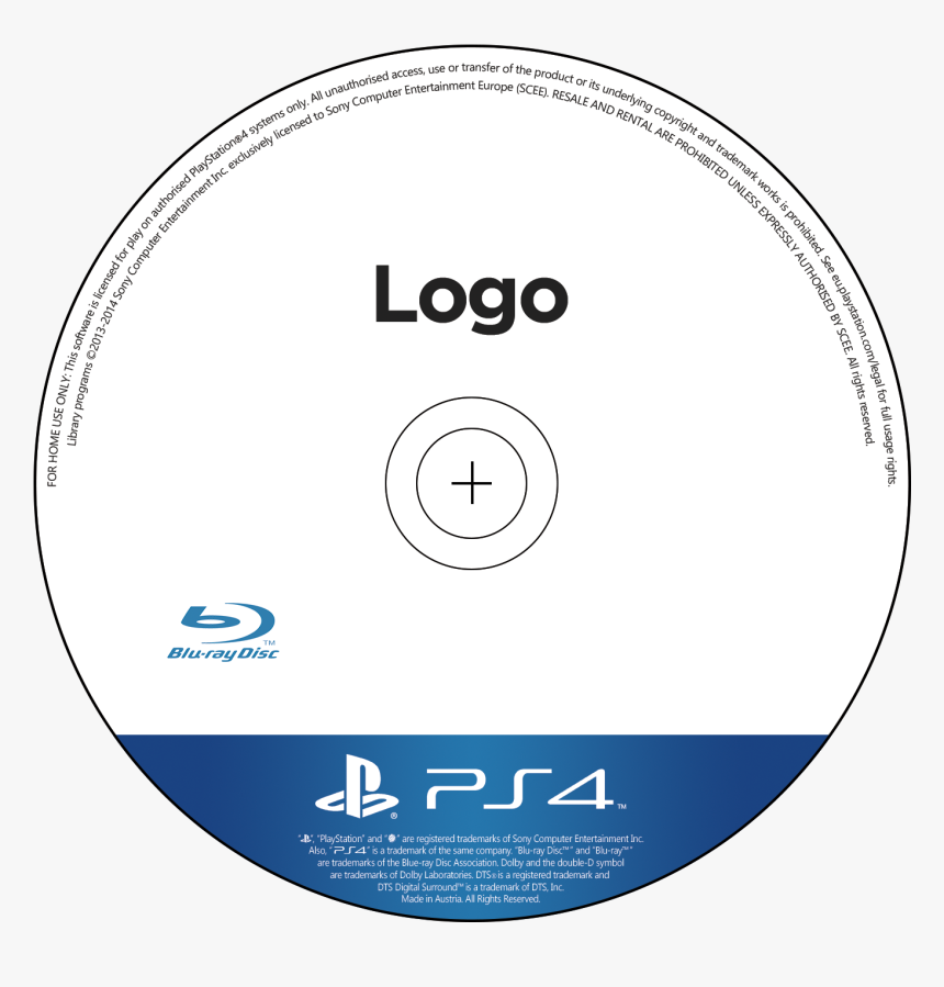 Transparent Dvd Disc Png - Ps4 Cd Cover Template, Png Download, Free Download