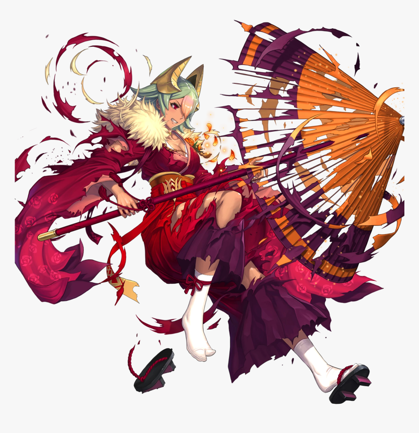 Japanese Umbrella Png -download Png - Fire Emblem Heroes Laegjarn New Year, Transparent Png, Free Download