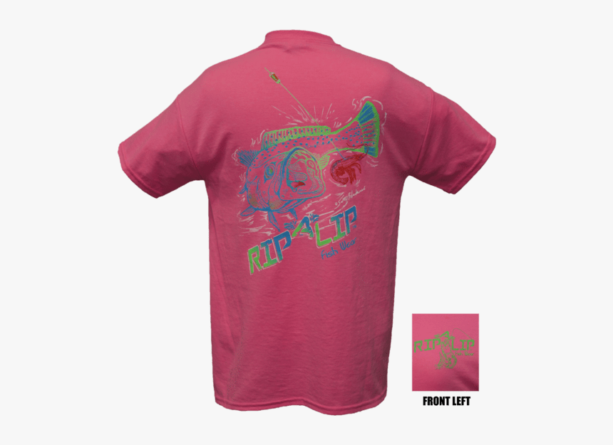 "Speckled Trout Short Sleeve T-shirt Safety Pink""  Class= - Active Shirt, HD Png Download, Free Download"