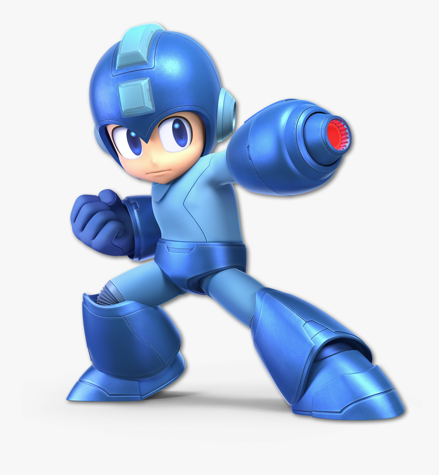 Blue Technology Product Figurine Toy - Megaman Super Smash Bros Ultimate, HD Png Download, Free Download
