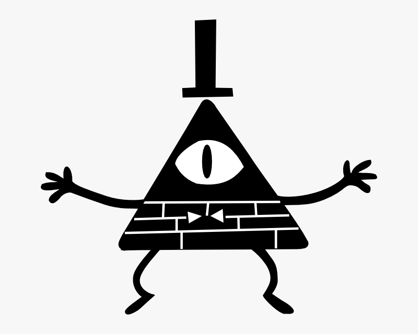 Transparent Bill Cypher Png - Bill Cipher Black And White, Png Download, Free Download
