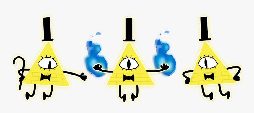 Bill Cipher From Gravity Falls , Png Download - Gravity Falls Bill Cipher Blue Fire, Transparent Png, Free Download