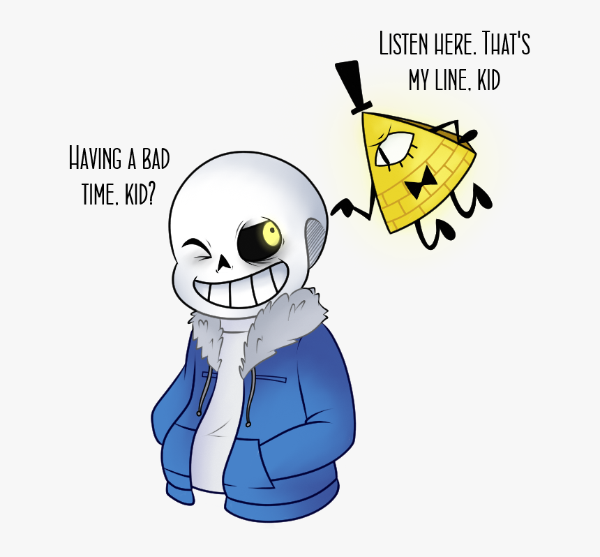 """""""sans & Bill Cipher - Sans And Bill Cipher, HD Png Download, Free Download"""