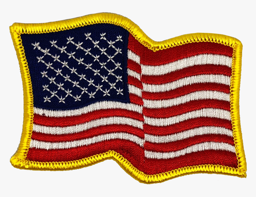 Usa Flag Waving Png - Waving American Flag Patch, Transparent Png, Free Download