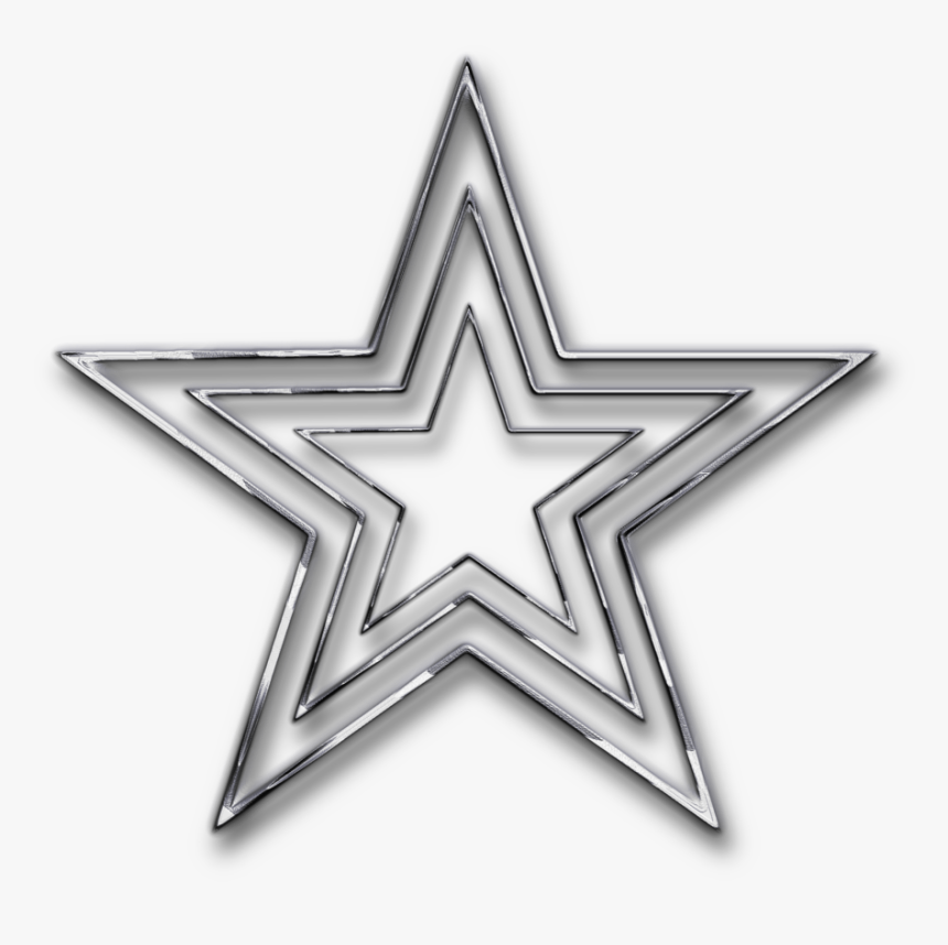 Silver Png Pic - Transparent Background Star Silver Png, Png Download, Free Download
